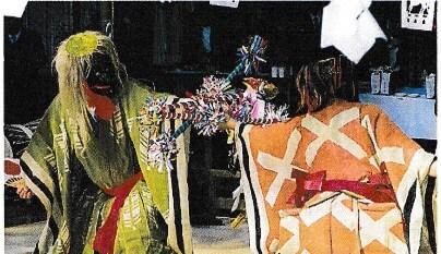 山宮神社と神楽舞